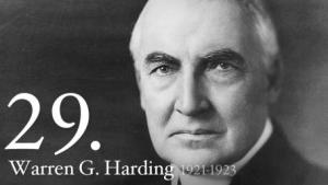 A portrait of President Harding.  No portrait of Jerry exists, thankfully.